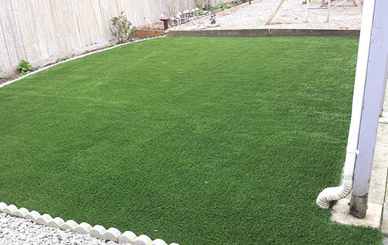 After Synthetic Turf Lawn